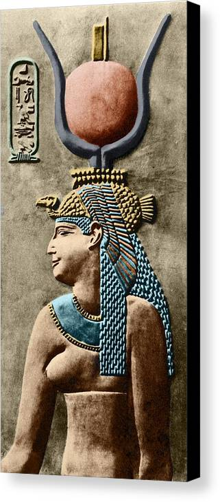 Cartouche Canvas Print featuring the photograph Cleopatra Vii by Sheila Terry