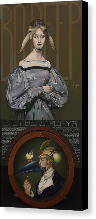 Sheep Canvas Print featuring the painting Lily Beau Pepys by Patrick Anthony Pierson