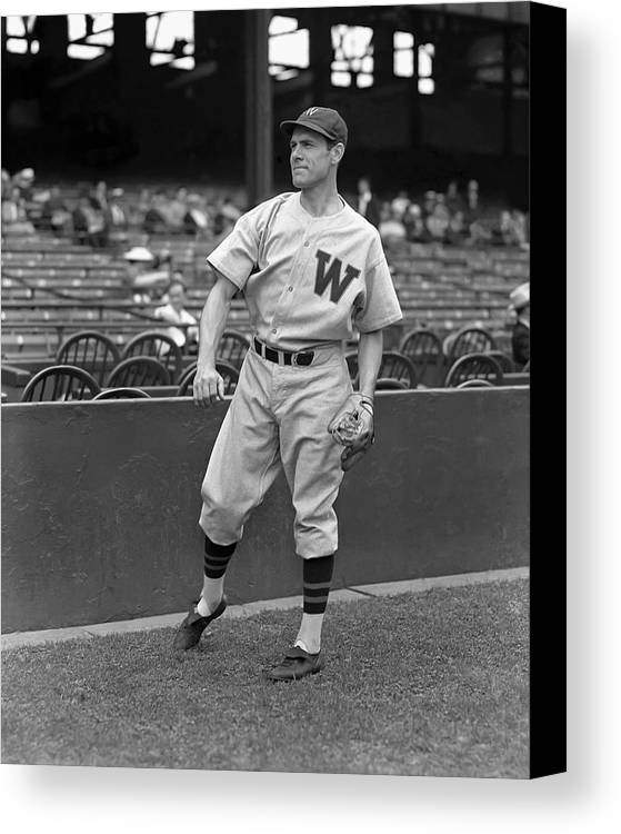Baseball Canvas Print featuring the photograph Peter W. Pete Appleton by Retro Images Archive