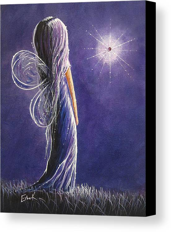 Fairies Canvas Print featuring the painting Amethyst Fairy By Shawna Erback by Shawna Erback