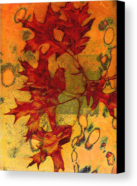Autumn Leaves Canvas Print featuring the photograph Autumn Leaves by Ann Powell