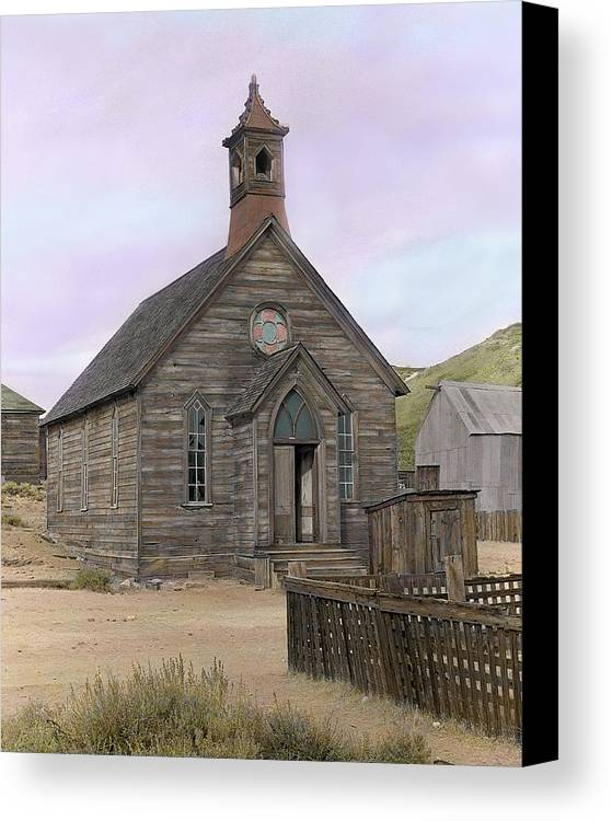 Bodie Canvas Print featuring the photograph Bodie Church by Mel Felix