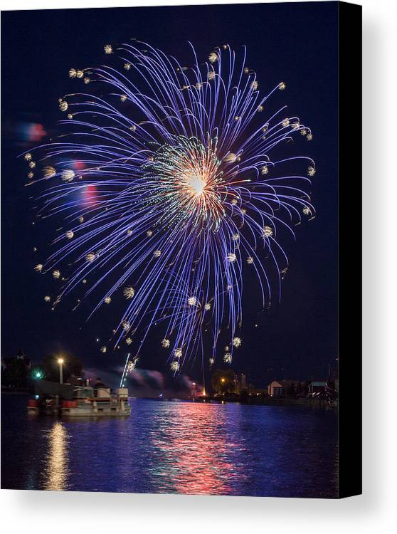 Bill Pevlor Canvas Print featuring the photograph Burst Of Blue by Bill Pevlor