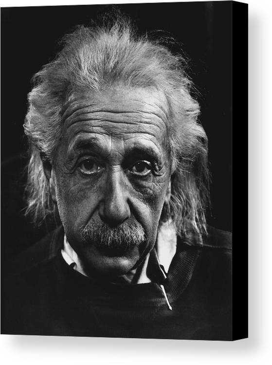 classic Canvas Print featuring the photograph Dr. Albert Einstein by Retro Images Archive