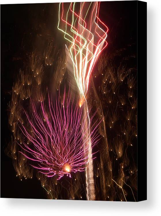 Fireworks Canvas Print featuring the photograph Fireworks by Aimee L Maher Photography and Art Visit ALMGallerydotcom