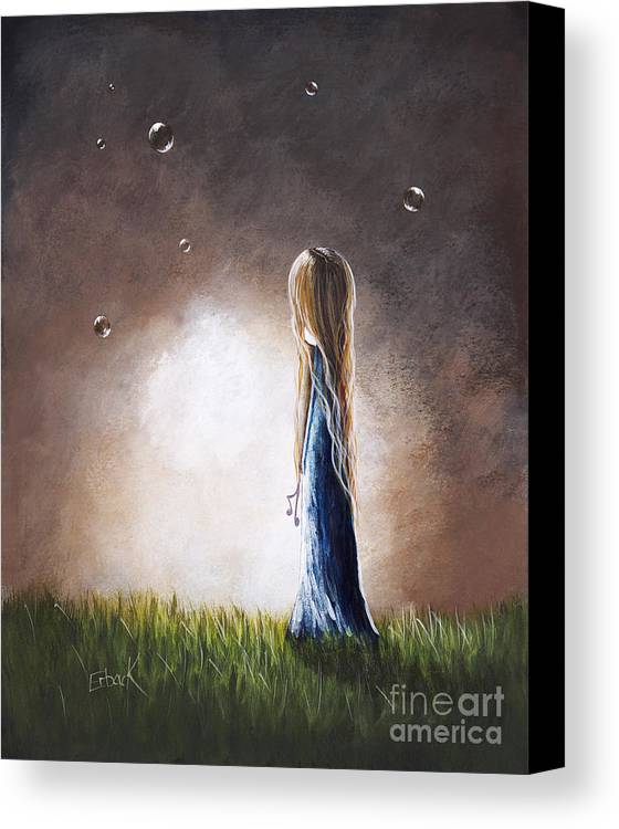 Surreal Canvas Print featuring the painting Heaven Heard Her Prayers Tonight By Shawna Erback by Shawna Erback