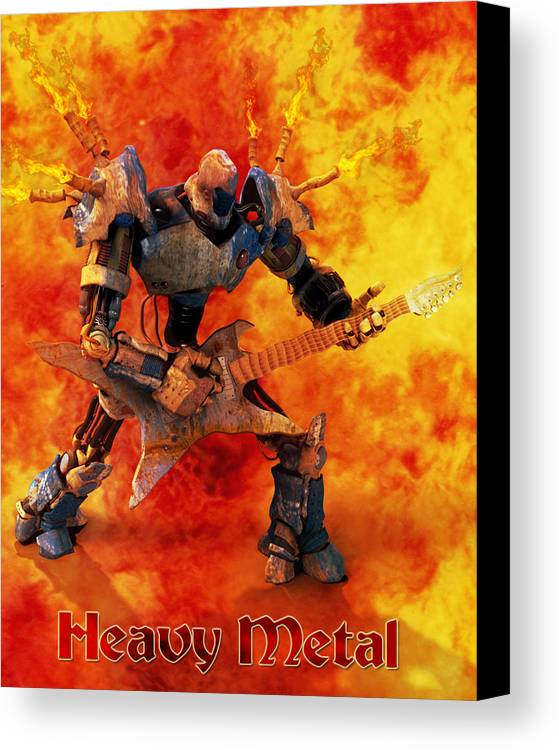 Metal Canvas Print featuring the digital art Heavy Metal by Frederico Borges