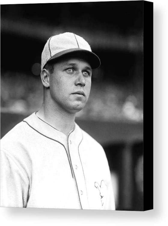 Retro Images Archive Canvas Print featuring the photograph Jimmie Foxx Looking Away by Retro Images Archive