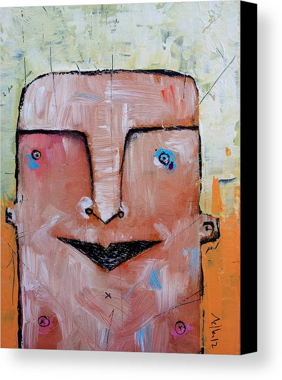 Portrait Canvas Print featuring the painting Life As Human No. 37 The Lost Tribe by Mark M Mellon