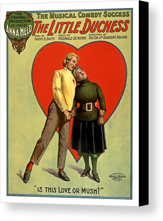 Vintage Poster Canvas Print featuring the mixed media Love Or Mush by Terry Reynoldson