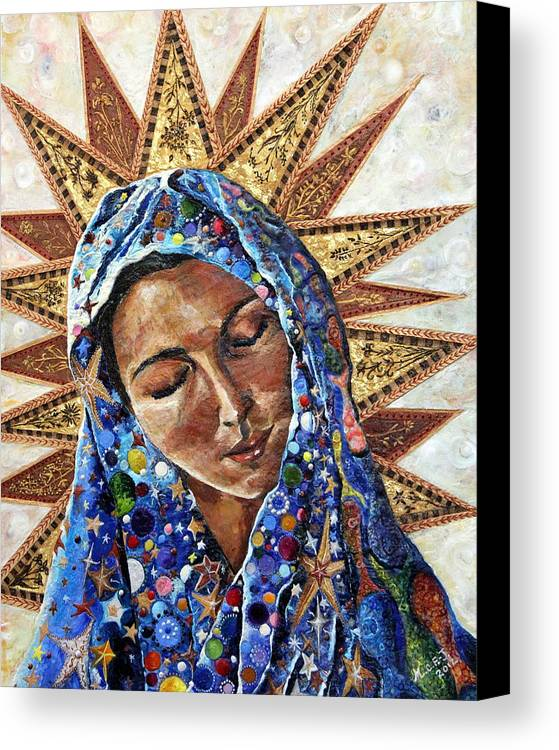 Madonna Canvas Print featuring the painting Madonna Of The Dispossessed by Mary C Farrenkopf