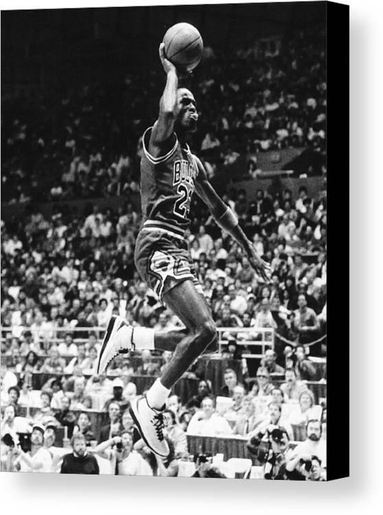 Classic Canvas Print featuring the photograph Michael Jordan Gliding by Retro Images Archive