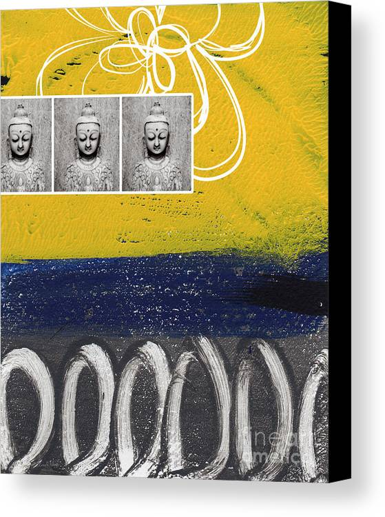 Buddha Canvas Print featuring the painting Morning Buddha by Linda Woods