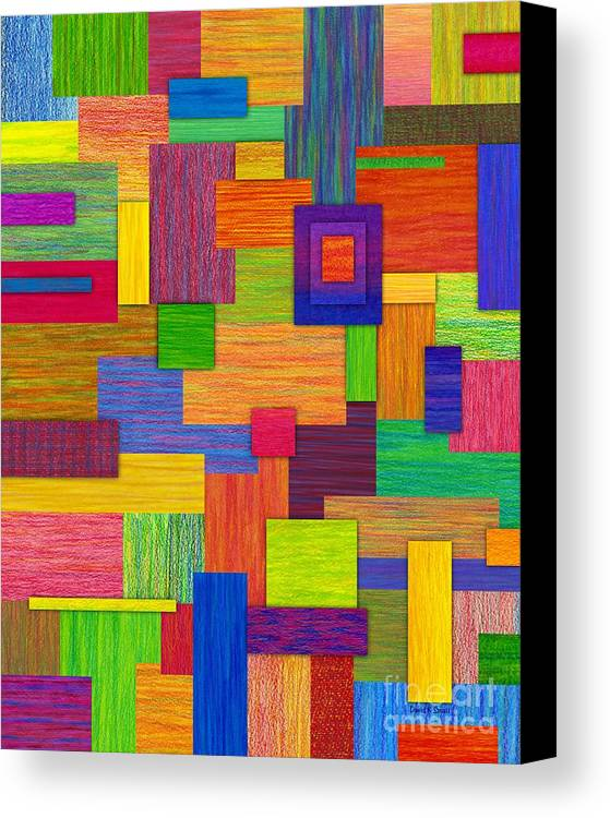 Colored Pencil Canvas Print featuring the painting Parallelograms by David K Small