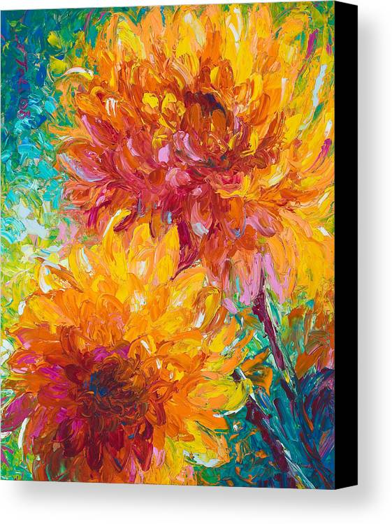 Oil Canvas Print featuring the painting Passion by Talya Johnson