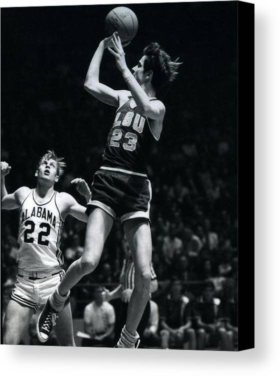 Classic Canvas Print featuring the photograph Pete Maravich Fade Away by Retro Images Archive