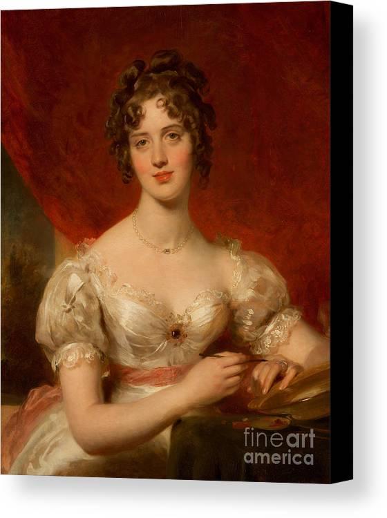 Portrait Of Mary Anne Bloxam Canvas Print featuring the painting Portrait Of Mary Anne Bloxam by Thomas Lawrence