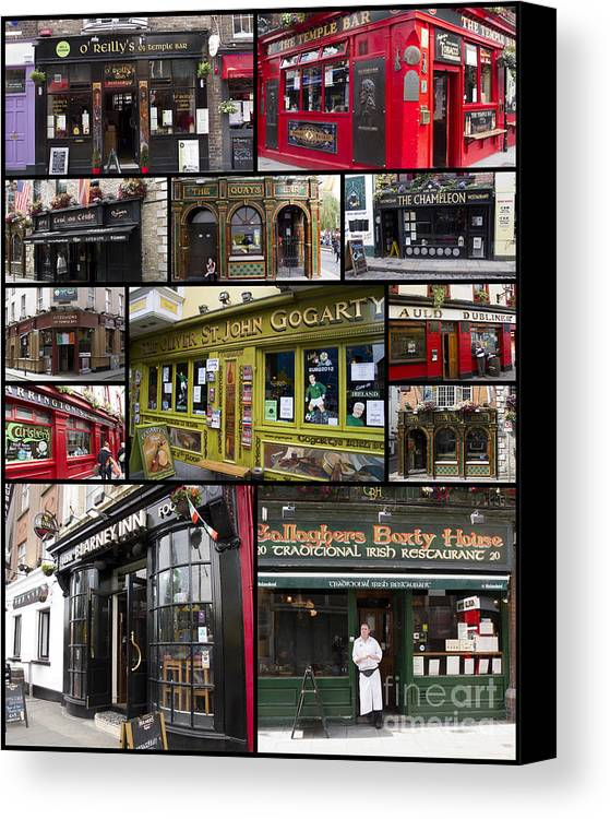 Pubs Canvas Print featuring the photograph Pubs Of Dublin by David Smith