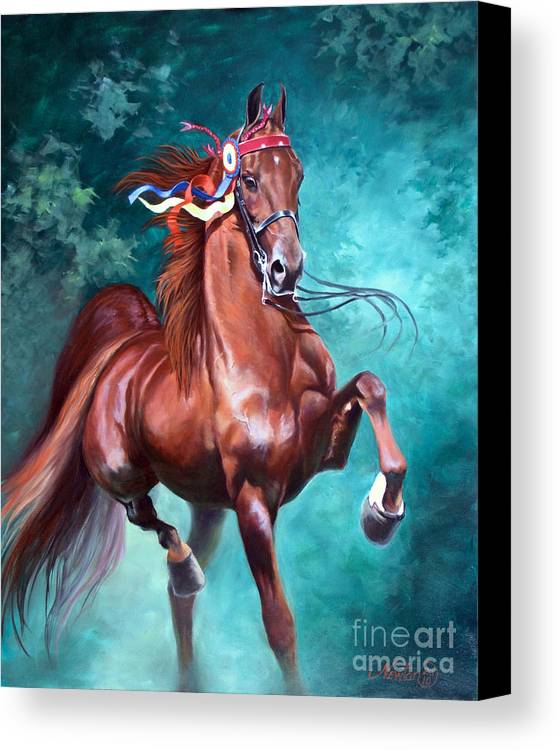 Horse Canvas Print featuring the painting Wgc Courageous Lord by Jeanne Newton Schoborg