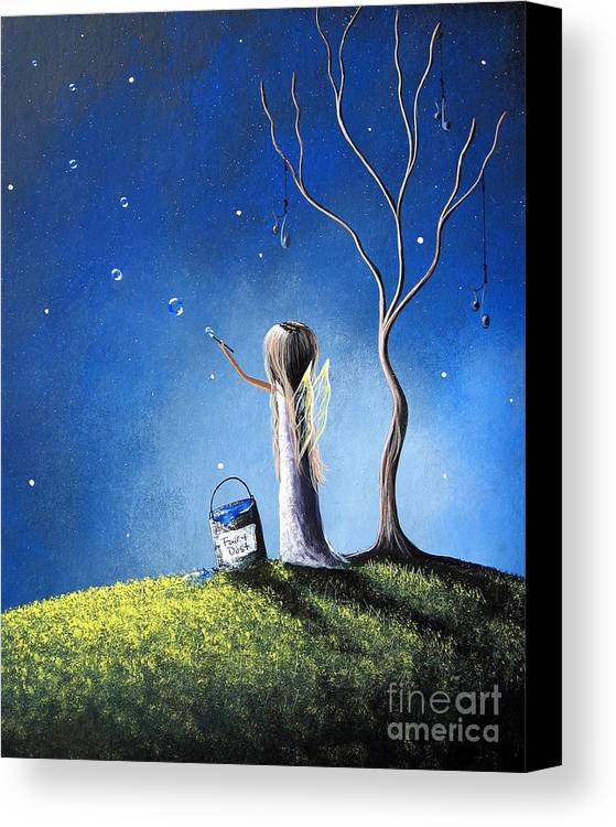 Fairies Canvas Print featuring the painting Your Wish Comes True Tonight By Shawna Erback by Shawna Erback