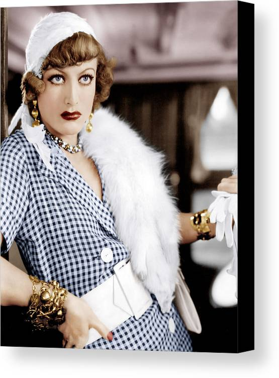 1930s Movies Canvas Print featuring the photograph Rain, Joan Crawford, 1932 by Everett