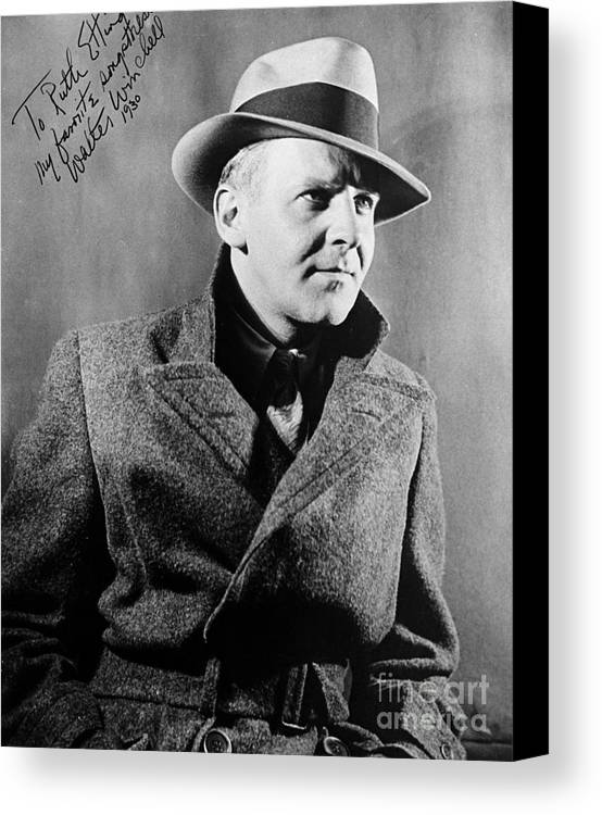 1940 Canvas Print featuring the photograph Walter Winchell (1897-1972) by Granger