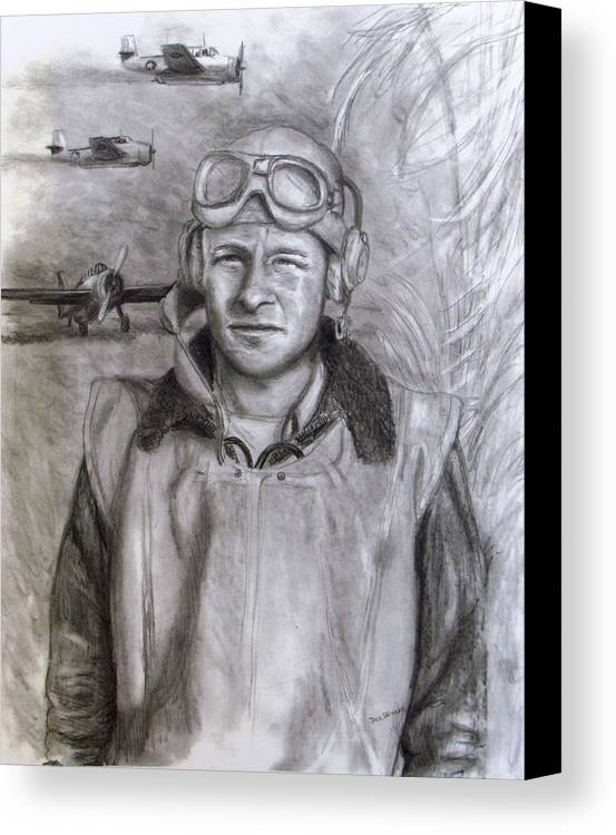 Us Navy Canvas Print featuring the drawing Dad Ww2 by Jack Skinner