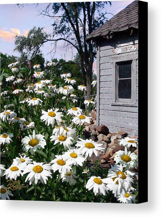 Daisies Canvas Print featuring the painting Daises Delight II by Doug Kreuger