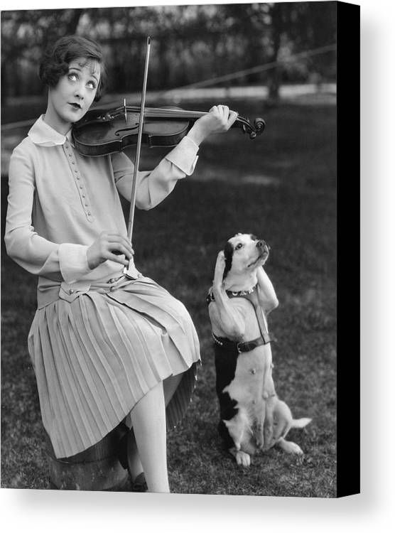 Young Adult Canvas Print featuring the photograph Dogmatic Response by Margaret Chute