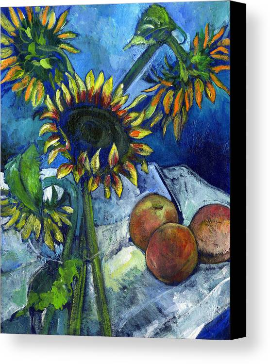 Sunflowers Canvas Print featuring the painting From The Farmer's Market by Carol Mangano
