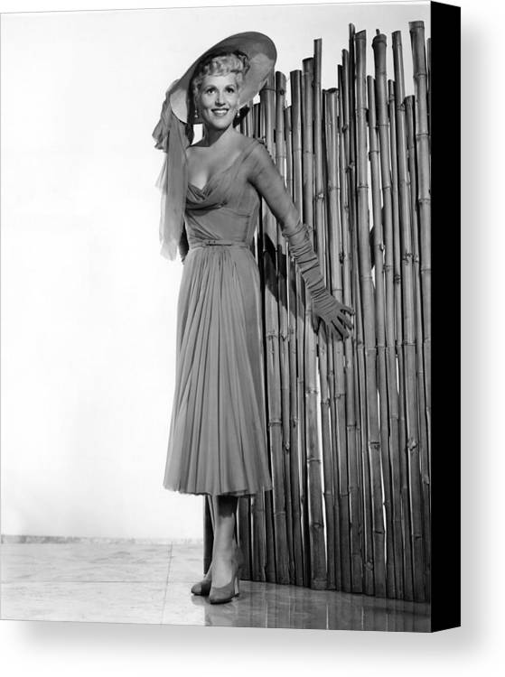 1950s Portraits Canvas Print featuring the photograph It Should Happen To You, Judy Holliday by Everett