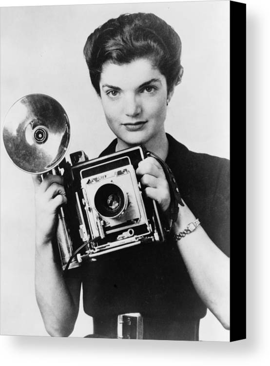 1950s Canvas Print featuring the photograph Jacqueline Bouvier As The Inquiring by Everett