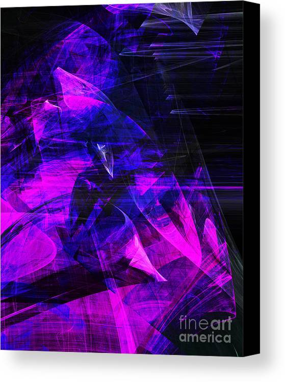 Fractal Canvas Print featuring the digital art Night Rider . A120423.936.693 by Wingsdomain Art and Photography