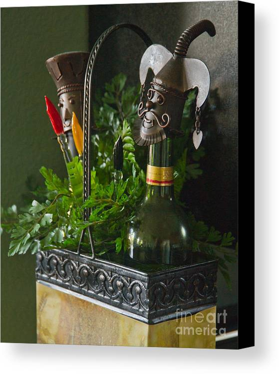 Bottle Canvas Print featuring the photograph The Cork Jester by Michael Flood
