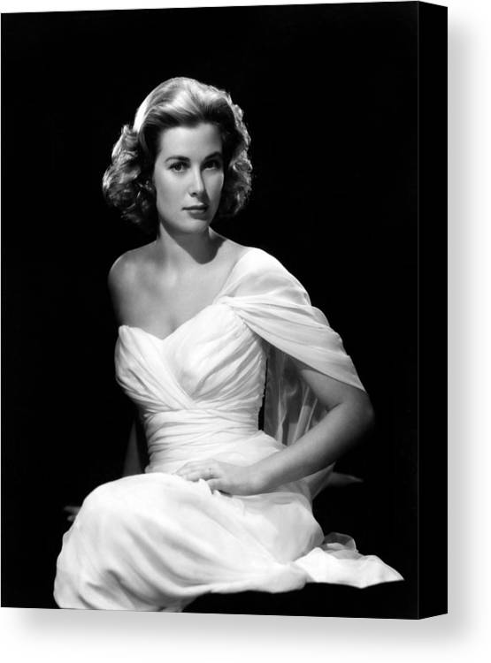 1950s Portraits Canvas Print featuring the photograph Grace Kelly, 1954 by Everett