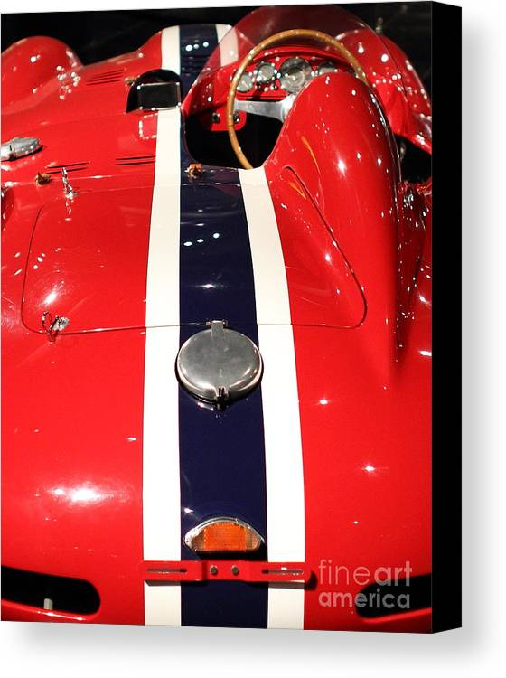 Ferrari Canvas Print featuring the photograph Racing Stripes by Wingsdomain Art and Photography