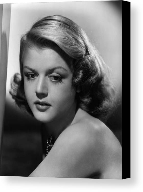 1940s Portraits Canvas Print featuring the photograph Angela Lansbury, 1948 by Everett
