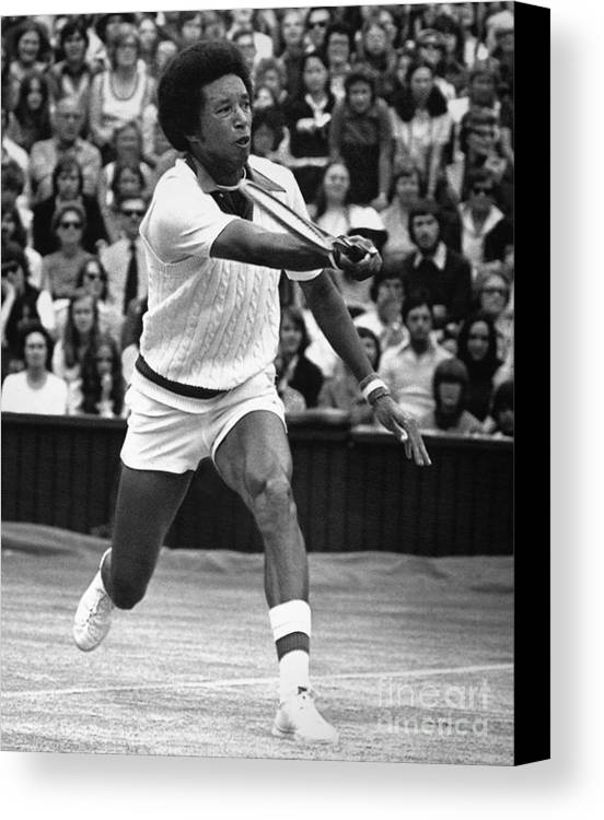1975 Canvas Print featuring the photograph Arthur Ashe (1943-1993) by Granger