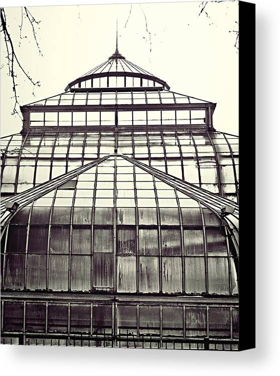 Conservatory Canvas Print featuring the photograph Detroit Belle Isle Conservatory by Alanna Pfeffer