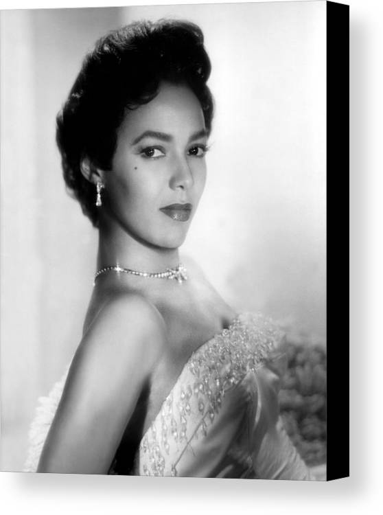 1950s Portraits Canvas Print featuring the photograph Dorothy Dandridge, No Date by Everett