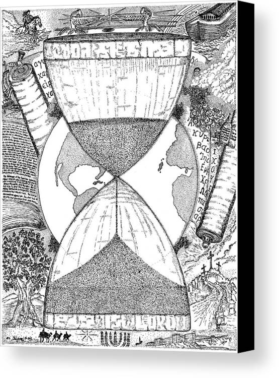 Mccarthy Art Canvas Print featuring the drawing Hourglass by Glenn McCarthy Art and Photography