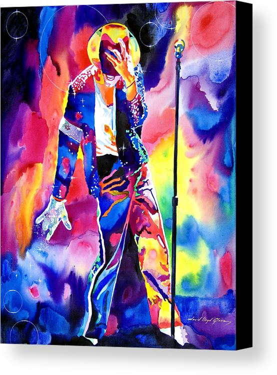 Michael Jackson Canvas Print featuring the painting Michael Jackson Sparkle by David Lloyd Glover