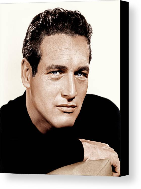 1960s Portraits Canvas Print featuring the photograph Paul Newman, Ca. 1963 by Everett