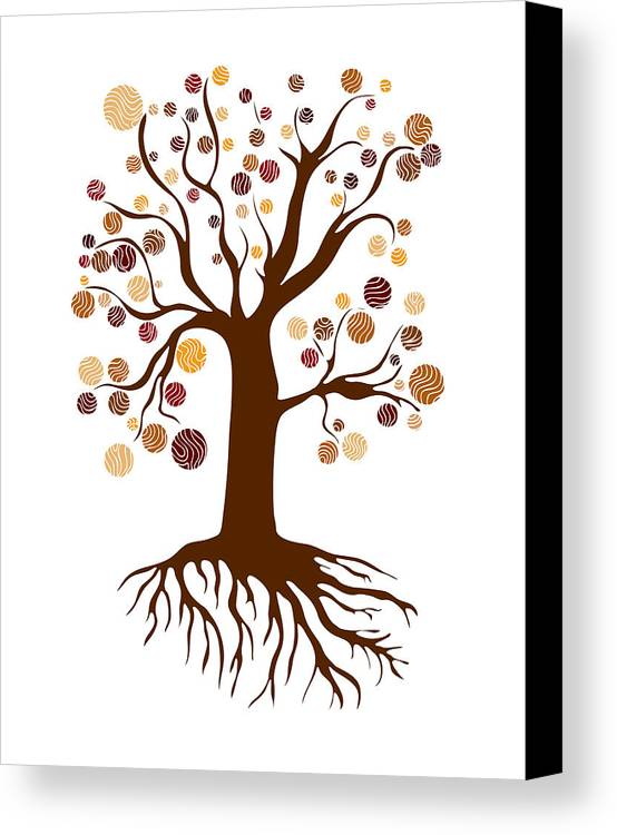 Frank Tschakert Canvas Print featuring the painting Tree by Frank Tschakert