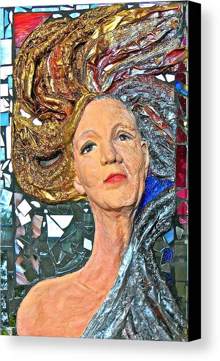 Women Canvas Print featuring the sculpture A Work In Progress by Phyllis Dunn