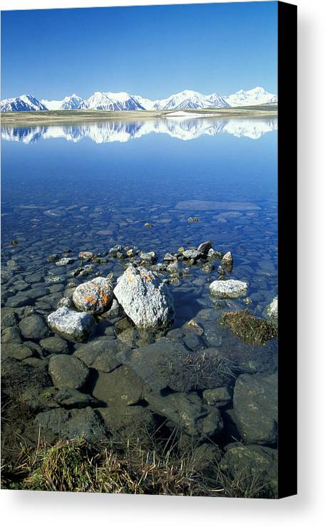 Hills Canvas Print featuring the photograph Altai by Anonymous