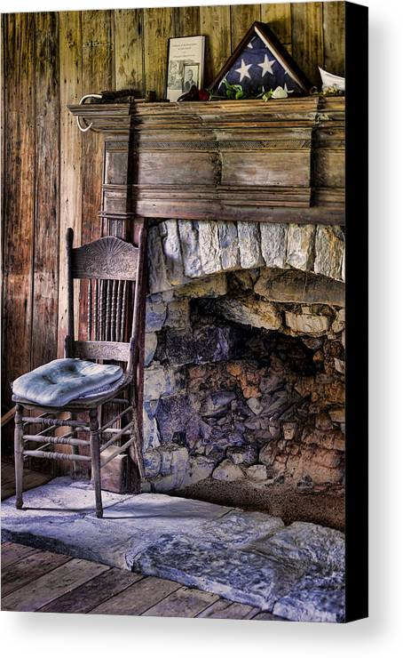 Fireplace Canvas Print featuring the photograph Memories by Heather Applegate
