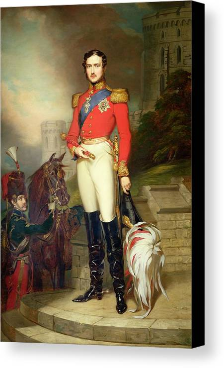Fusilier Canvas Print featuring the painting Prince Albert by John Lucas
