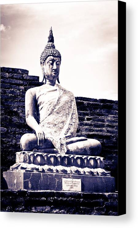 Thailand Canvas Print featuring the sculpture Buddha Statue by Thosaporn Wintachai