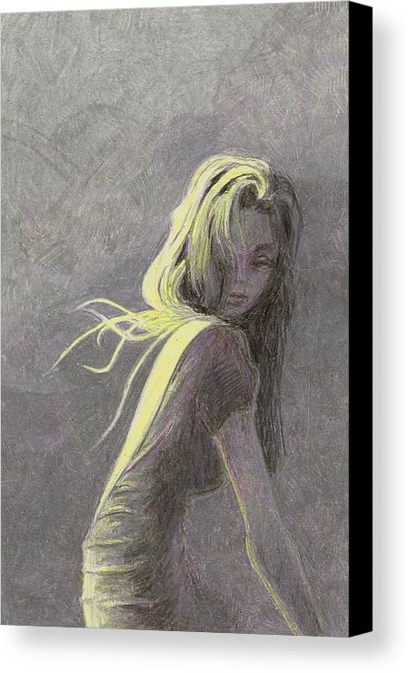 Fashion Canvas Print featuring the drawing Moonlight by Steve Asbell